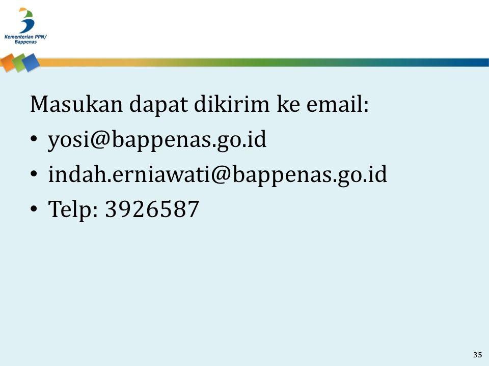 Masukan dapat dikirim ke email: