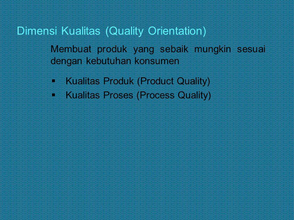 Membuat produk yang sebaik mungkin sesuai dengan kebutuhan konsumen