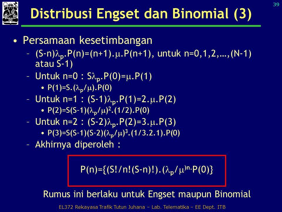 Distribusi Engset dan Binomial (3)