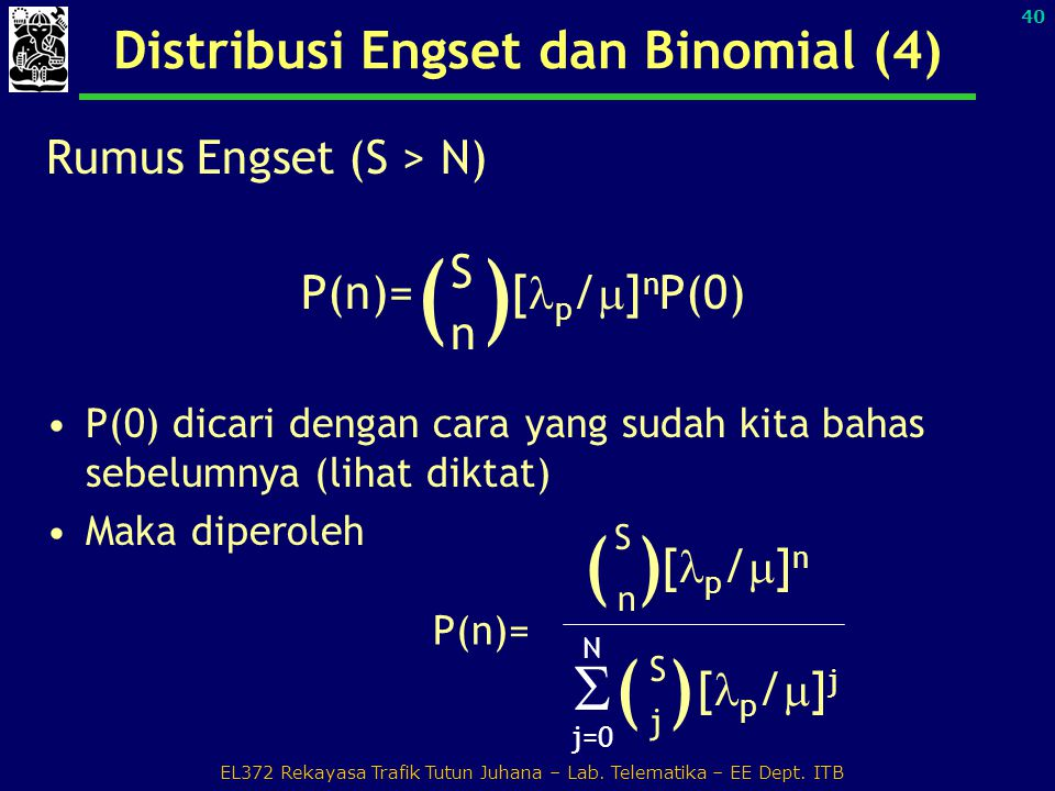 Distribusi Engset dan Binomial (4)
