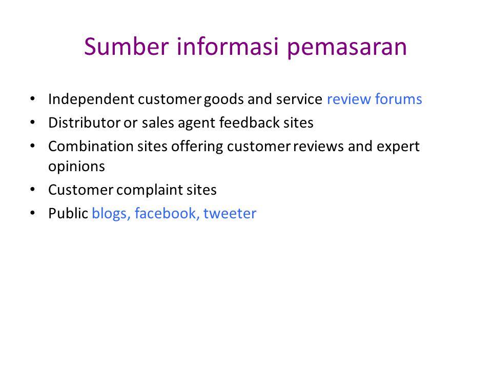 Sumber informasi pemasaran
