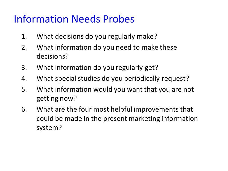 Information Needs Probes
