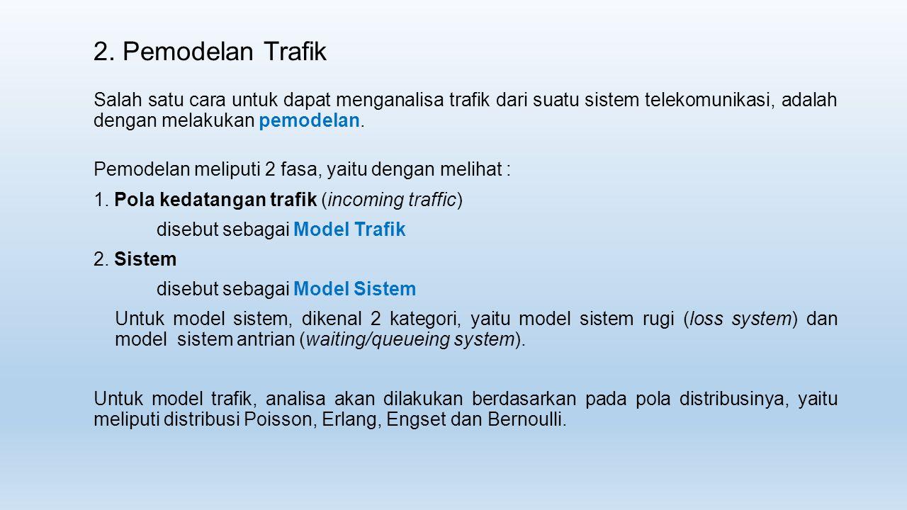 2. Pemodelan Trafik Salah satu cara untuk dapat menganalisa trafik dari suatu sistem telekomunikasi, adalah dengan melakukan pemodelan.