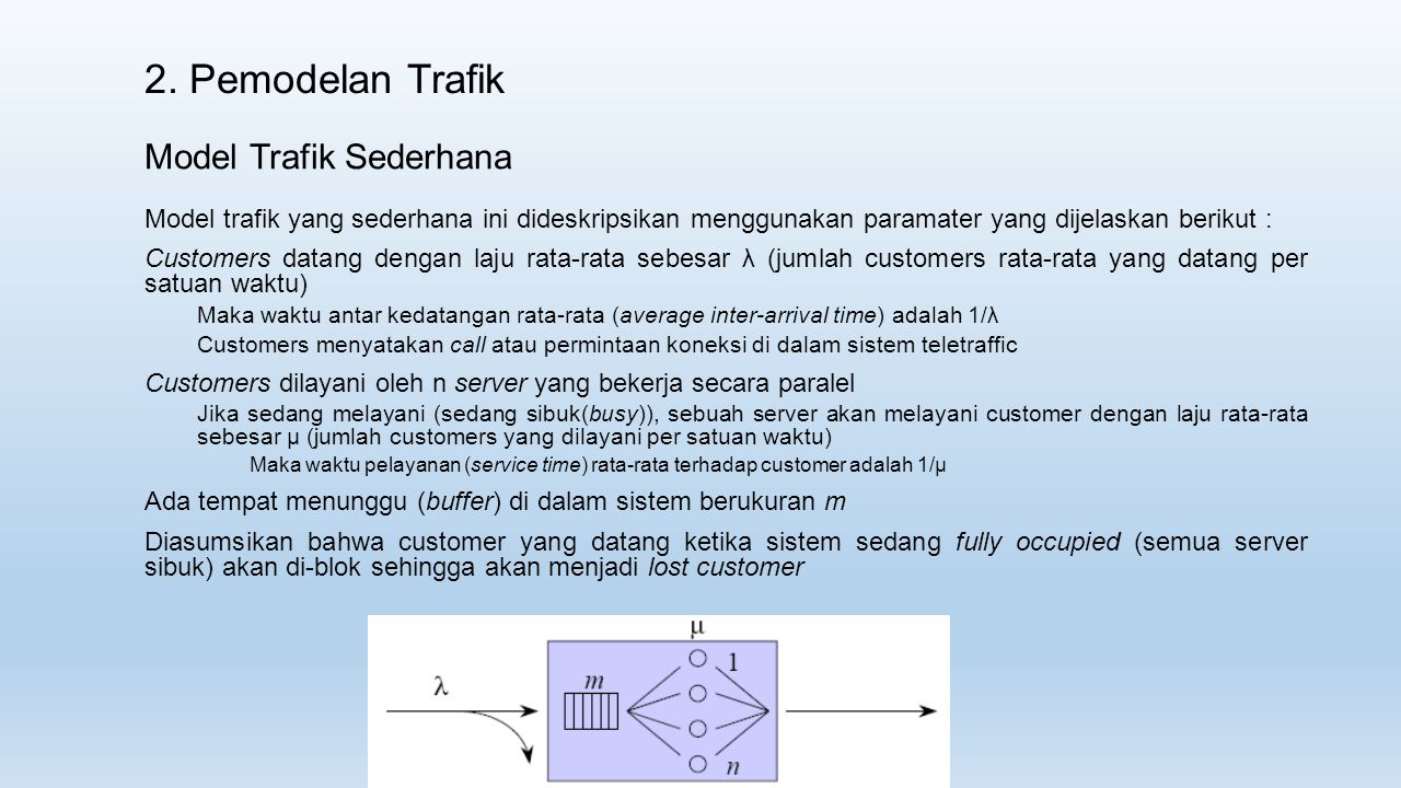 2. Pemodelan Trafik Model Trafik Sederhana