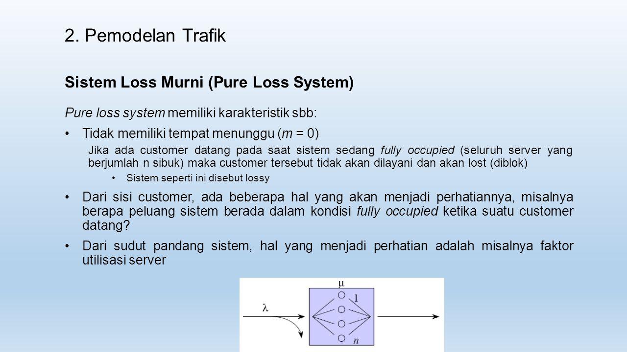 2. Pemodelan Trafik Sistem Loss Murni (Pure Loss System)