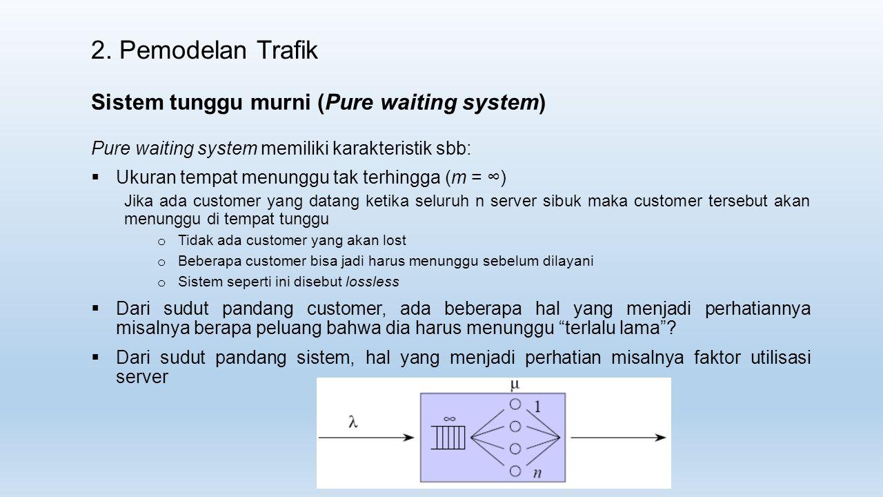 2. Pemodelan Trafik Sistem tunggu murni (Pure waiting system)