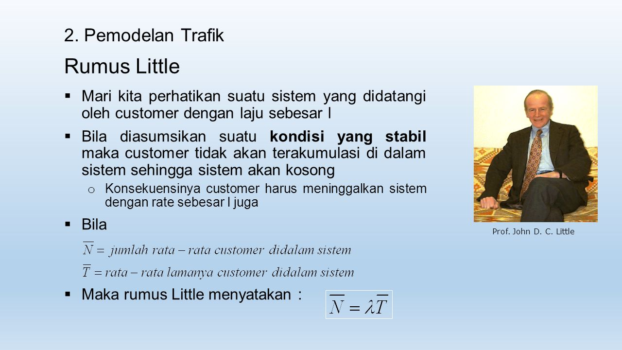 Rumus Little 2. Pemodelan Trafik