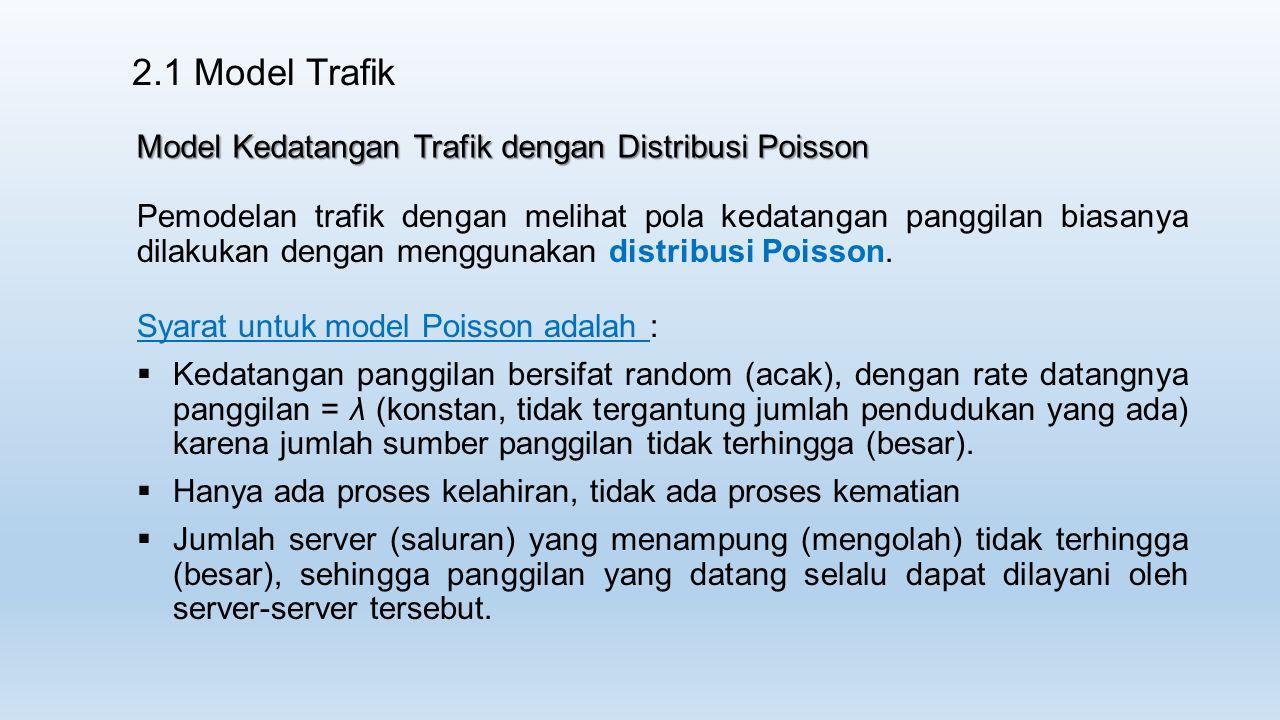 2.1 Model Trafik Model Kedatangan Trafik dengan Distribusi Poisson