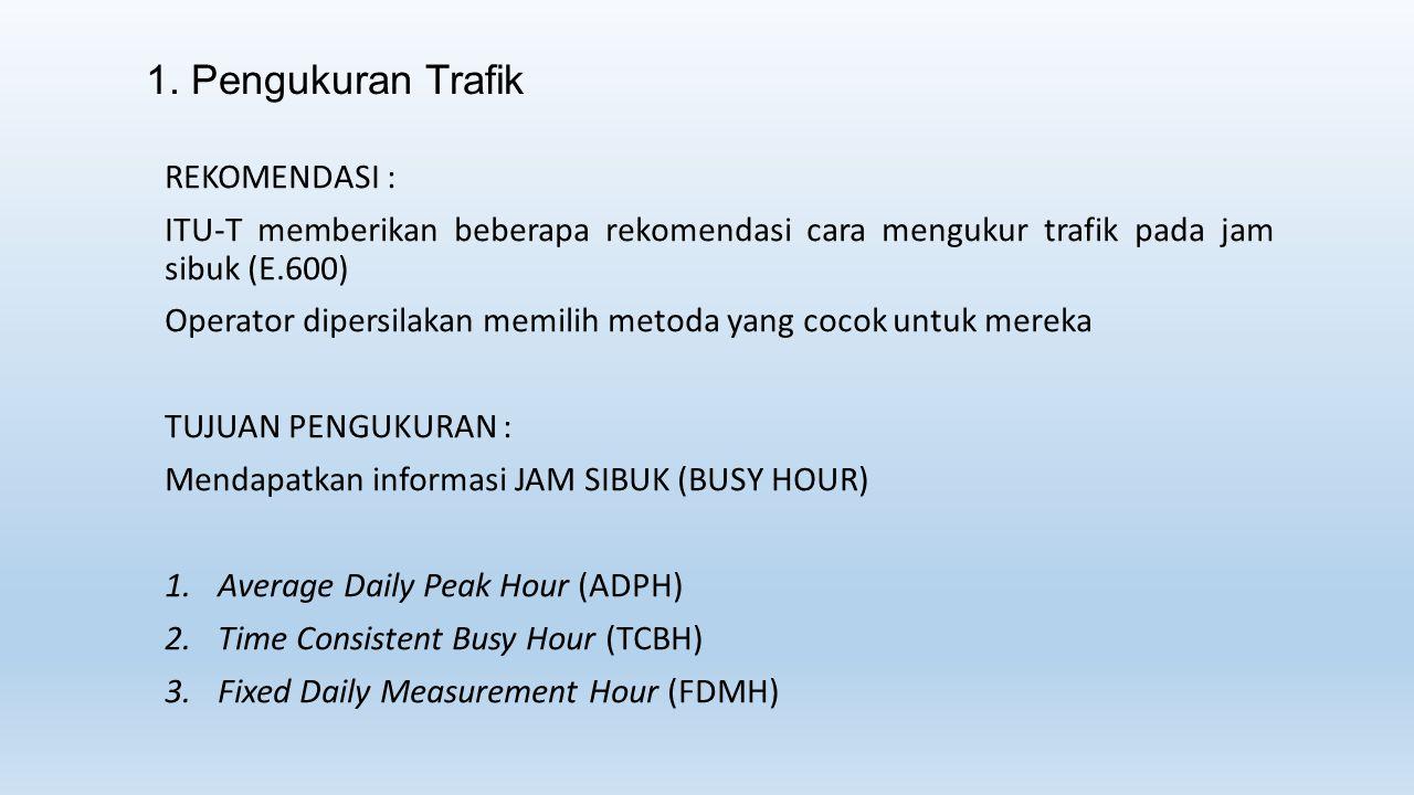 1. Pengukuran Trafik REKOMENDASI :