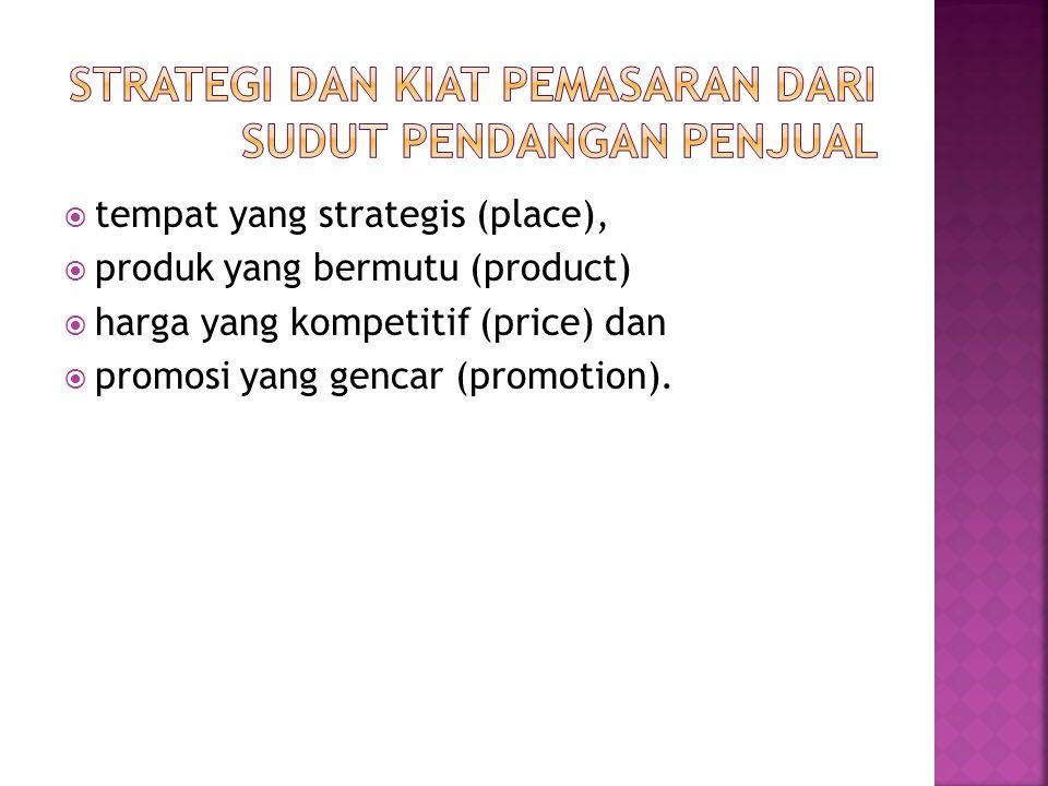 strategi dan kiat pemasaran dari sudut pendangan penjual