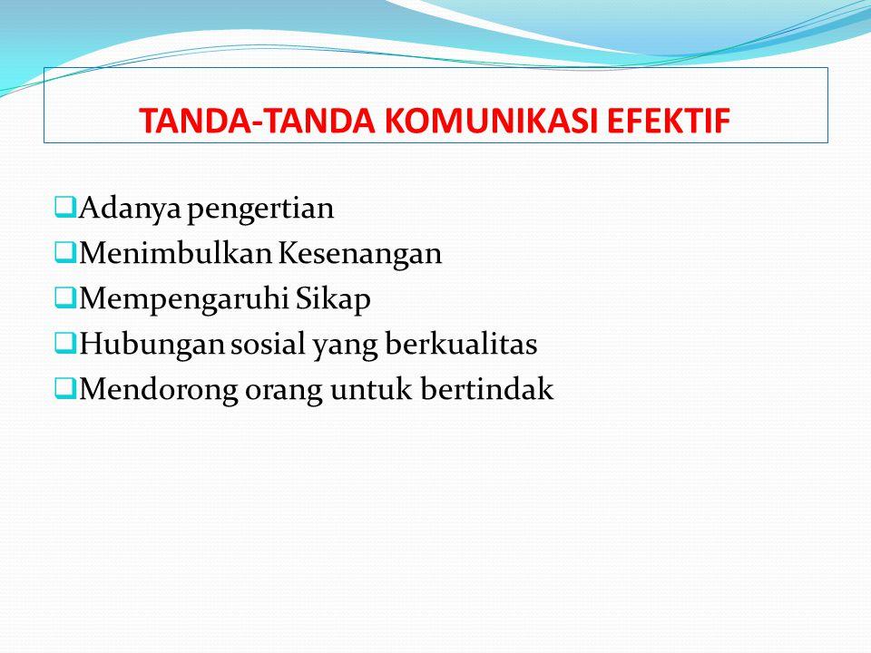 TANDA-TANDA KOMUNIKASI EFEKTIF