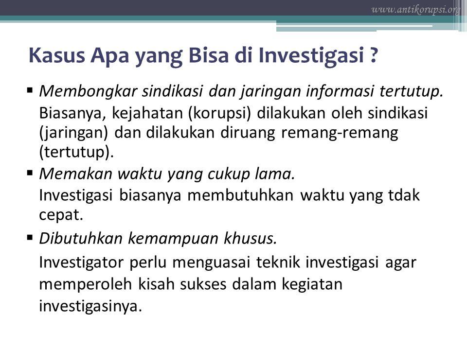 Kasus Apa yang Bisa di Investigasi