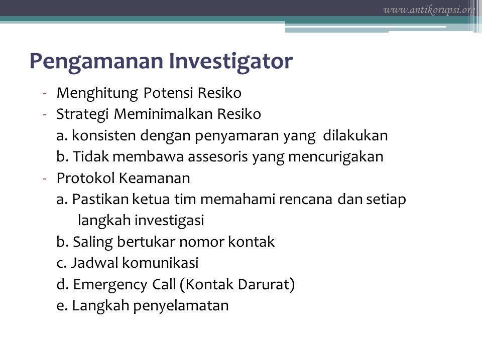 Pengamanan Investigator