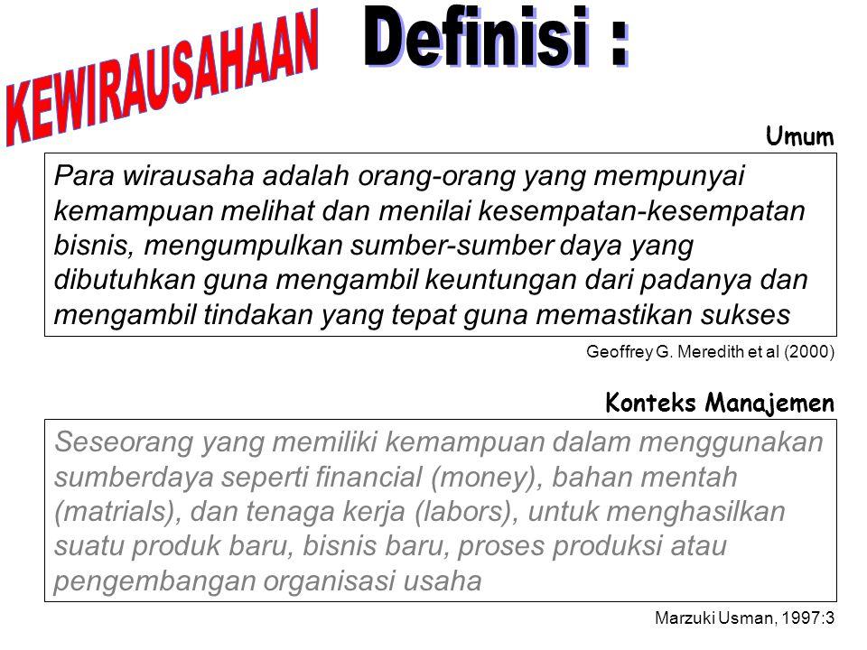 KEWIRAUSAHAAN Definisi :