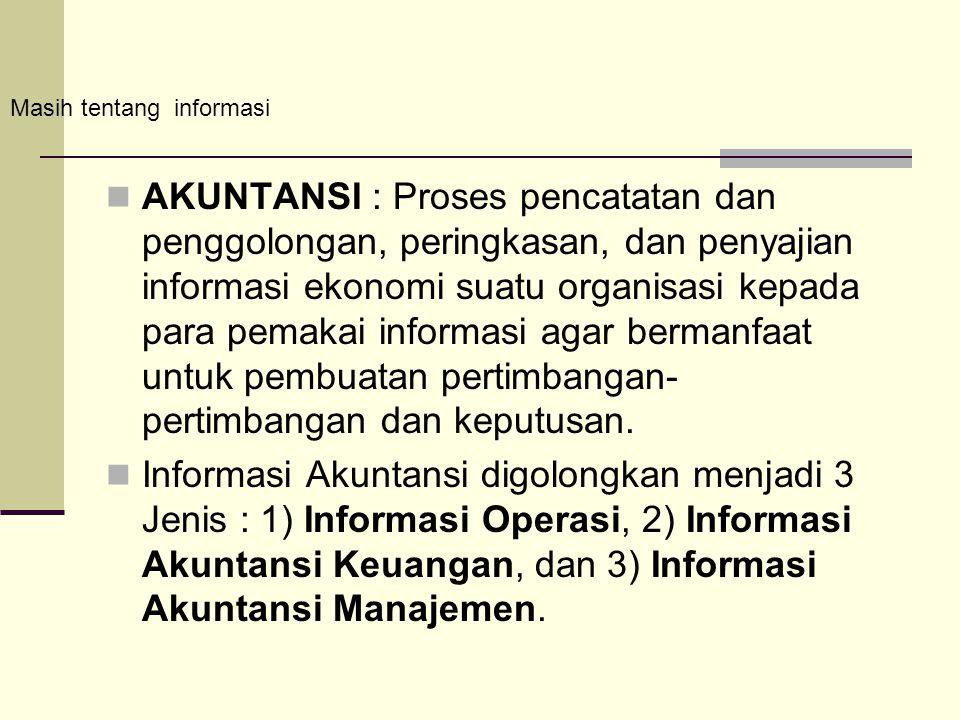 Masih tentang informasi