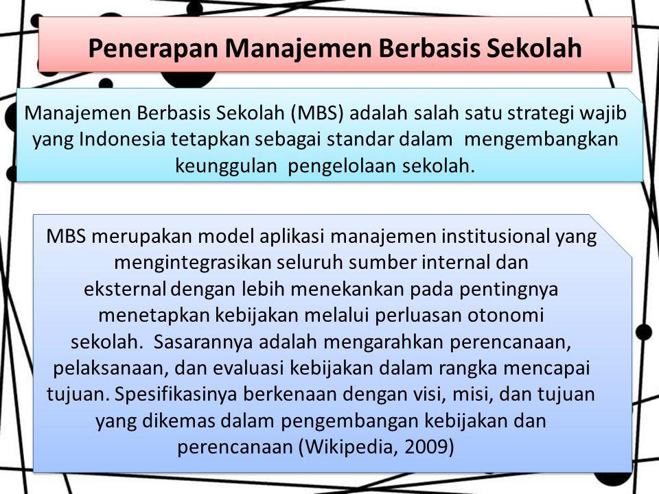 Penerapan Manajemen Berbasis Sekolah