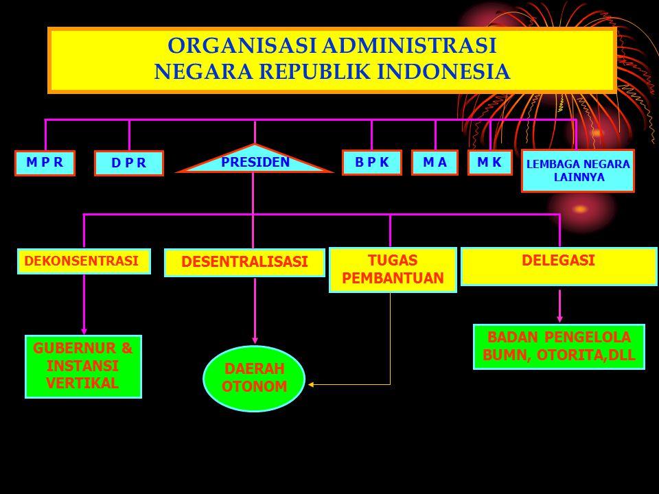ORGANISASI ADMINISTRASI NEGARA REPUBLIK INDONESIA