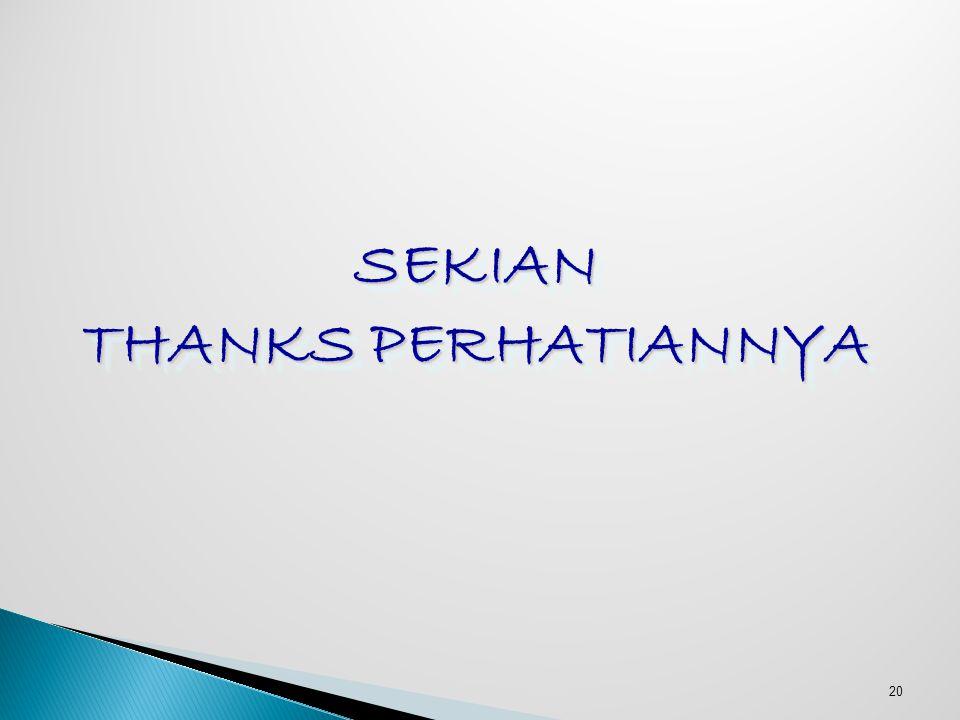 SEKIAN THANKS PERHATIANNYA