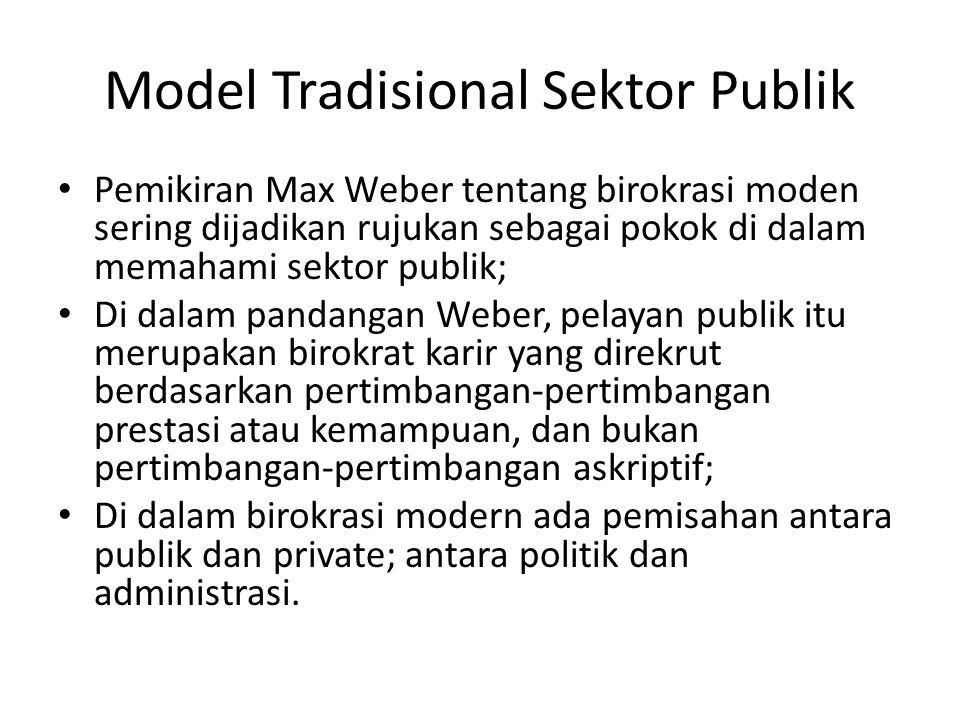 Model Tradisional Sektor Publik