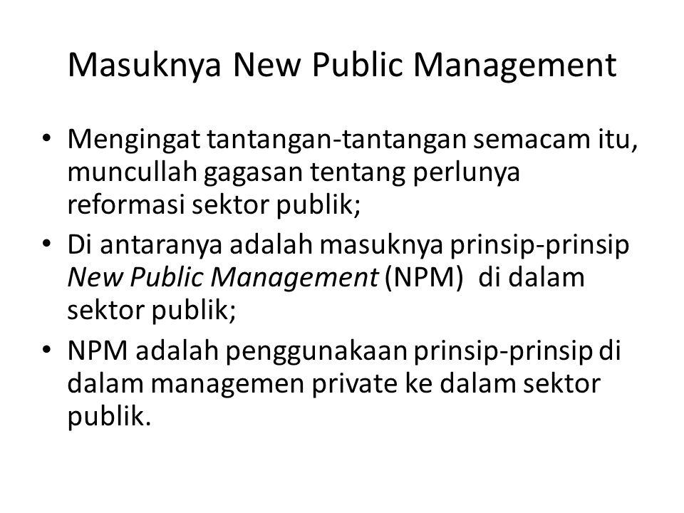Masuknya New Public Management