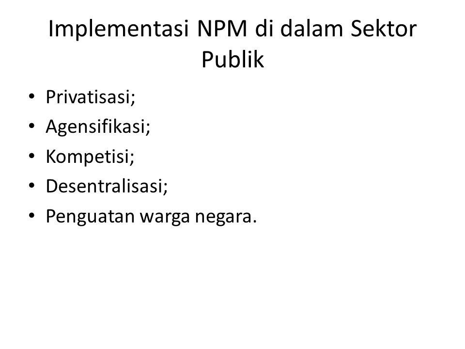 Implementasi NPM di dalam Sektor Publik