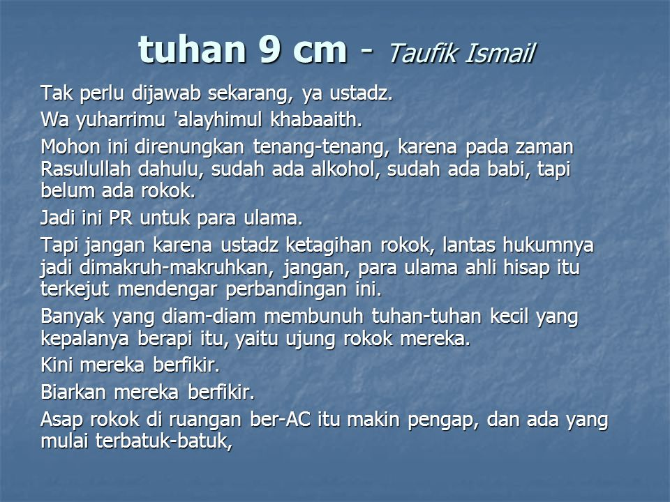 tuhan 9 cm - Taufik Ismail
