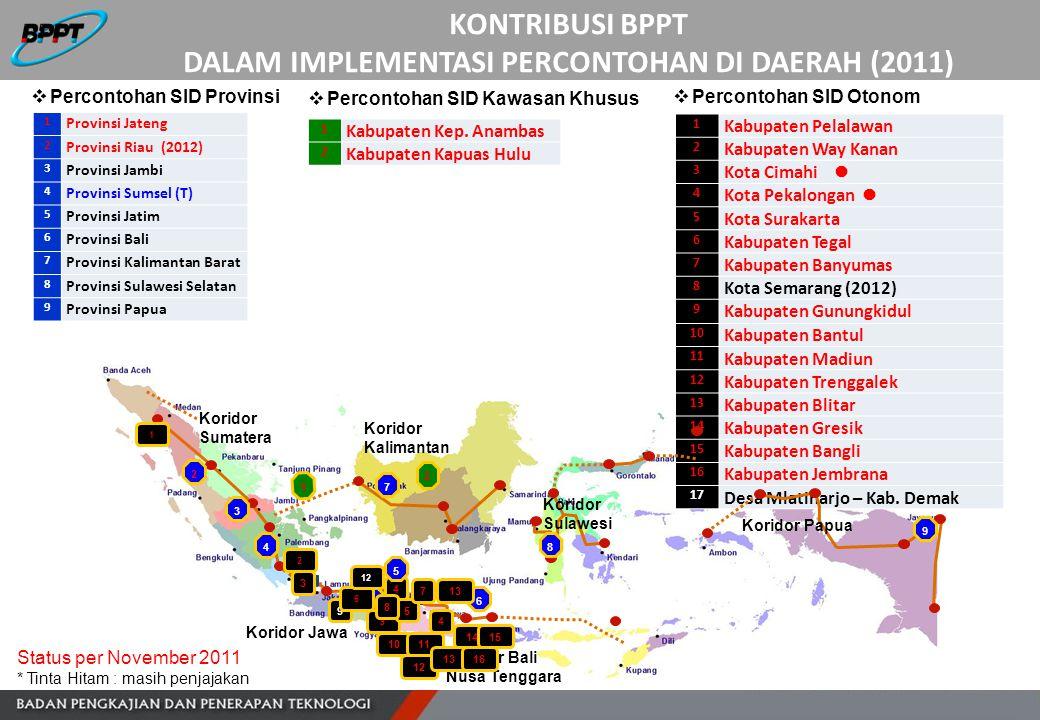 KONTRIBUSI BPPT DALAM IMPLEMENTASI PERCONTOHAN DI DAERAH (2011)