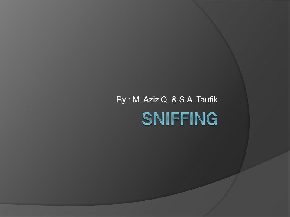 By : M. Aziz Q. & S.A. Taufik Sniffing