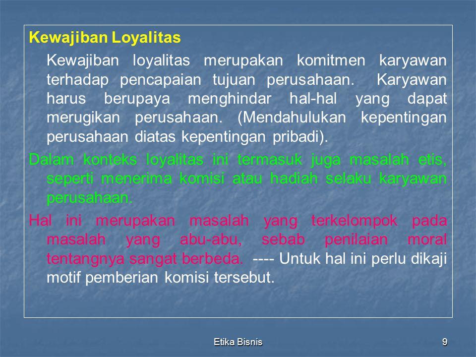 Kewajiban Loyalitas