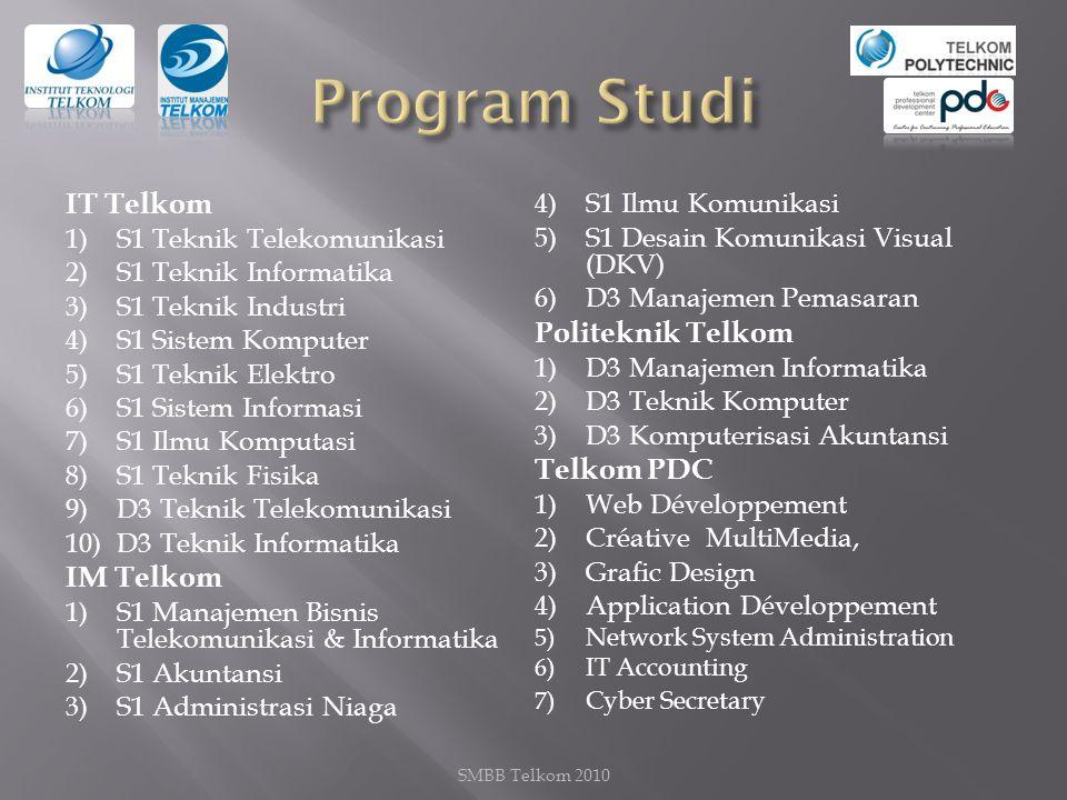 Program Studi IT Telkom Politeknik Telkom Telkom PDC IM Telkom