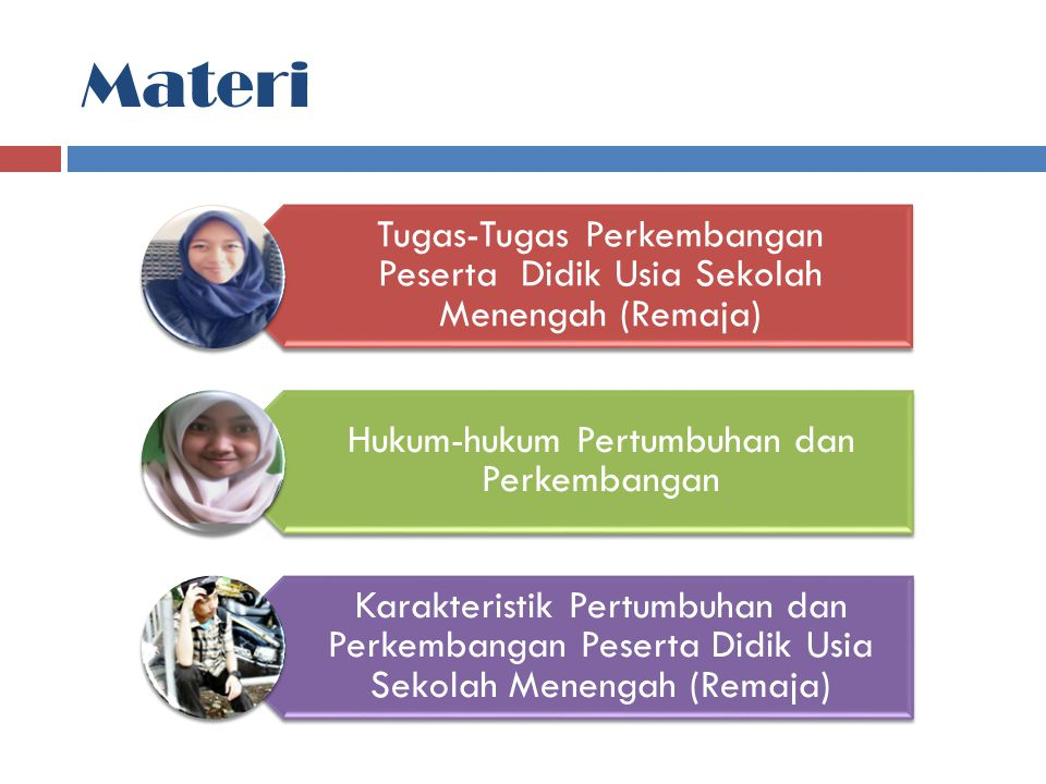 Materi Tugas-Tugas Perkembangan Peserta Didik Usia Sekolah Menengah (Remaja) Hukum-hukum Pertumbuhan dan Perkembangan.