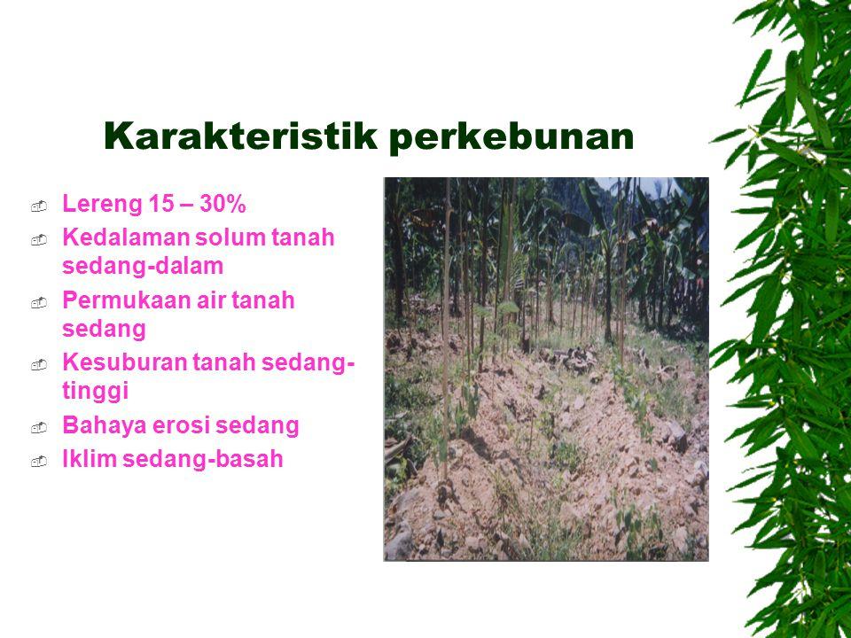 Karakteristik perkebunan