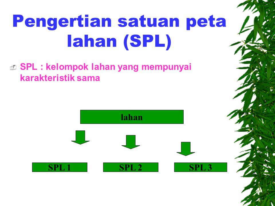 Pengertian satuan peta lahan (SPL)
