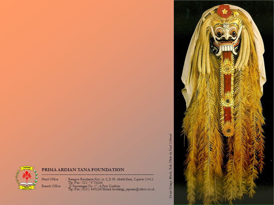 Dewi Durga Mask, Bali Photo by Paul Schraub