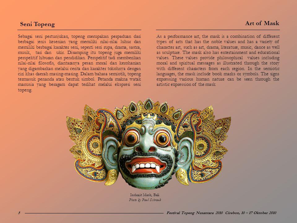 Seni Topeng Art of Mask.