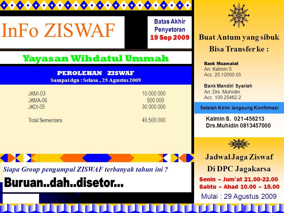 Yayasan Wihdatul Ummah Sampai dgn : Selasa , 25 Agustus 2009