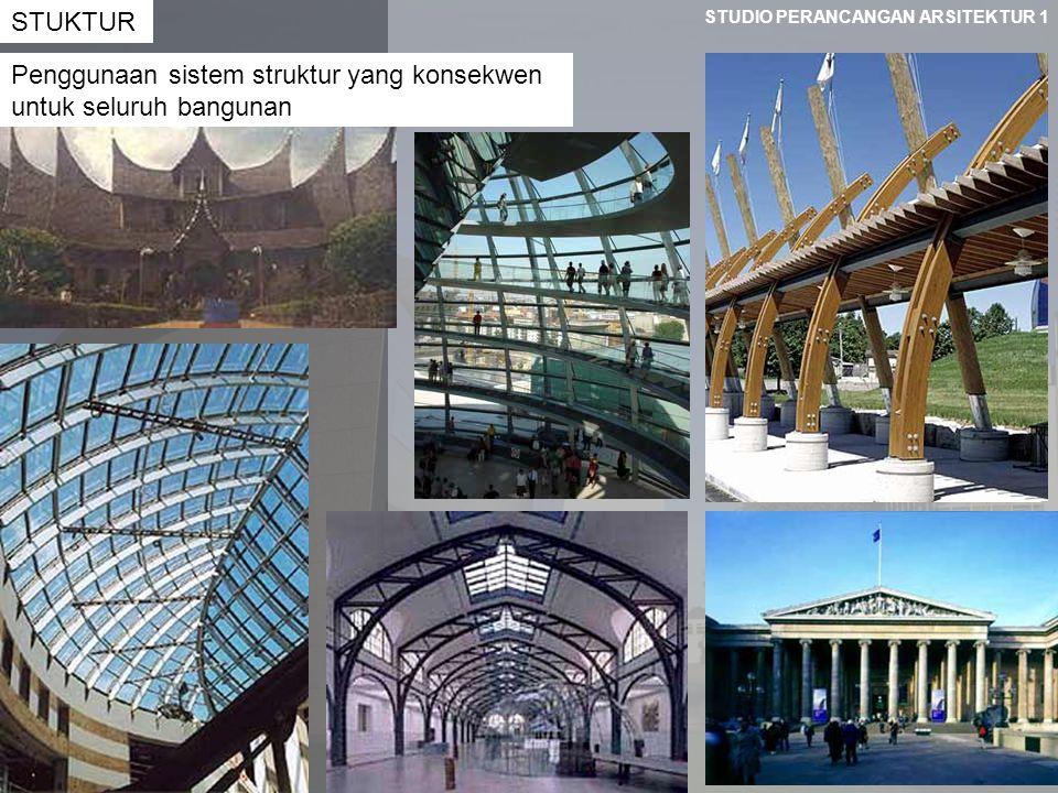 STUKTUR Penggunaan sistem struktur yang konsekwen untuk seluruh bangunan