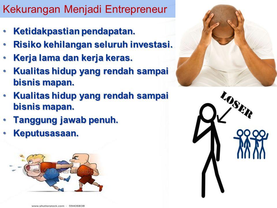 Kekurangan Menjadi Entrepreneur