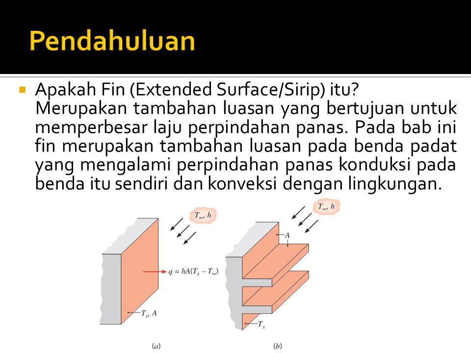 Pendahuluan Apakah Fin (Extended Surface/Sirip) itu