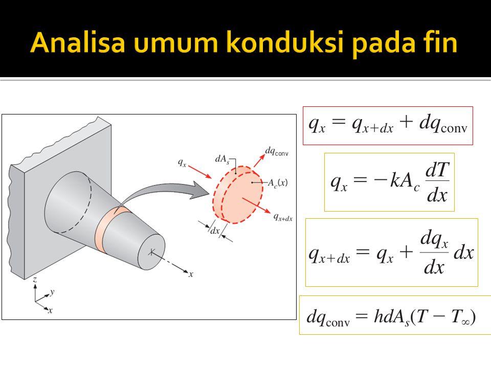 Analisa umum konduksi pada fin