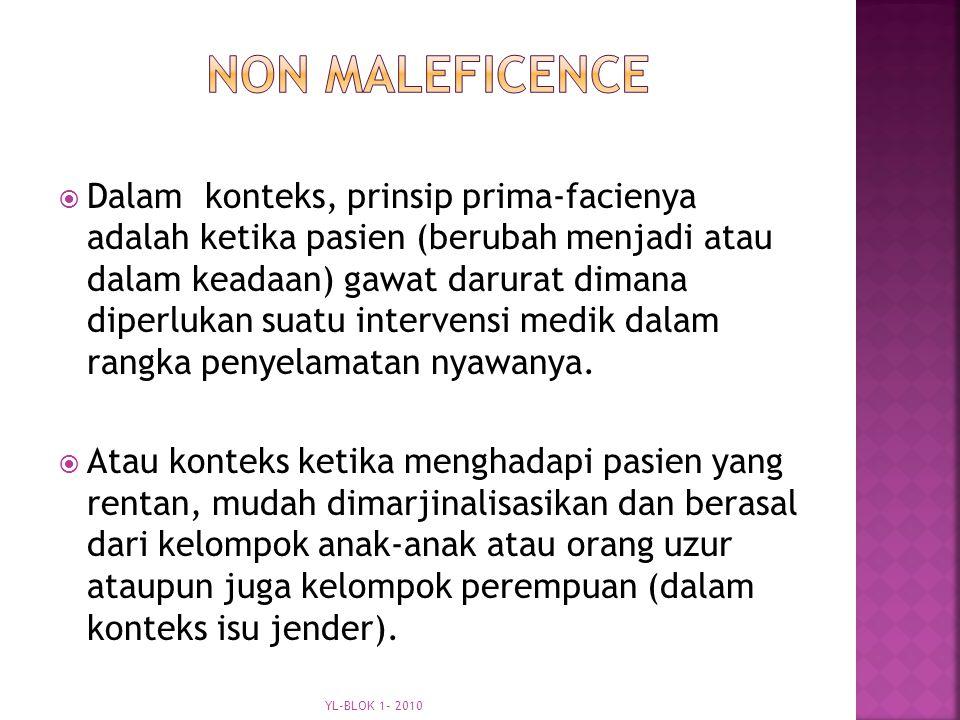 non maleficence