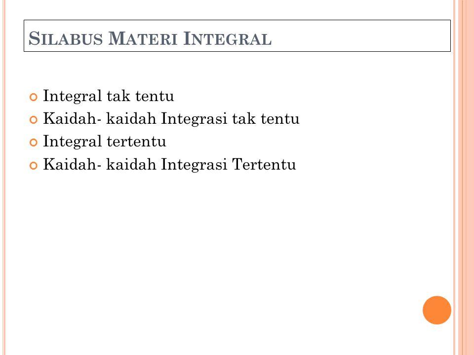 Silabus Materi Integral