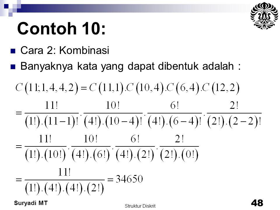 Contoh 10: Cara 2: Kombinasi