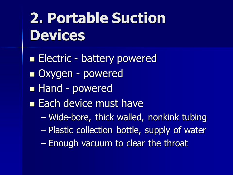2. Portable Suction Devices