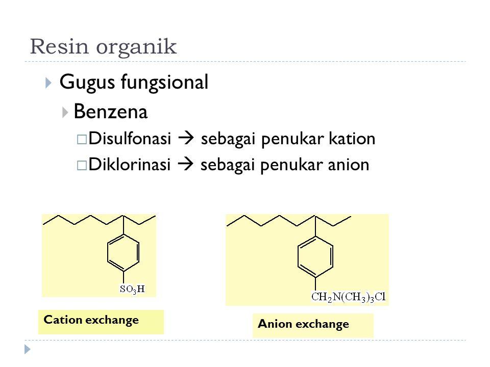 Resin organik Gugus fungsional Benzena