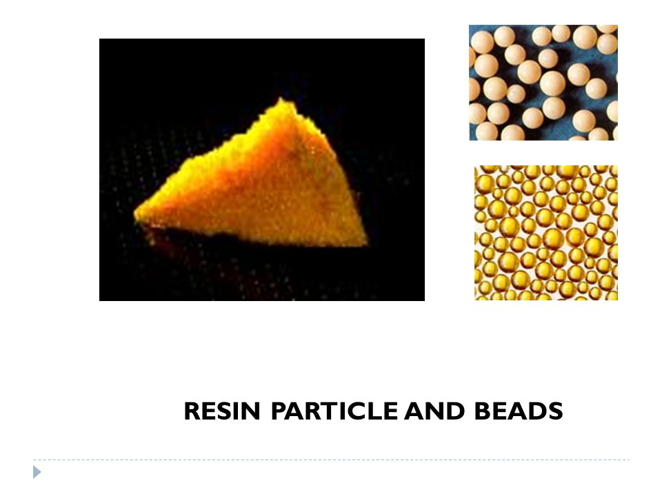 RESIN PARTICLE AND BEADS