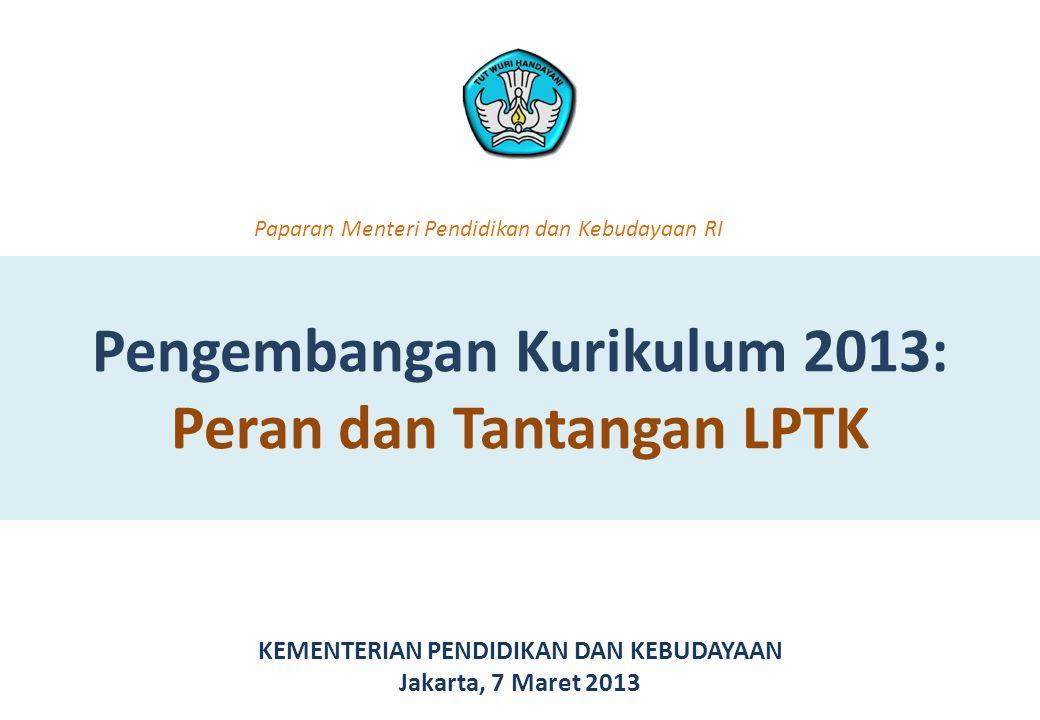 Pengembangan Kurikulum 2013: Peran dan Tantangan LPTK