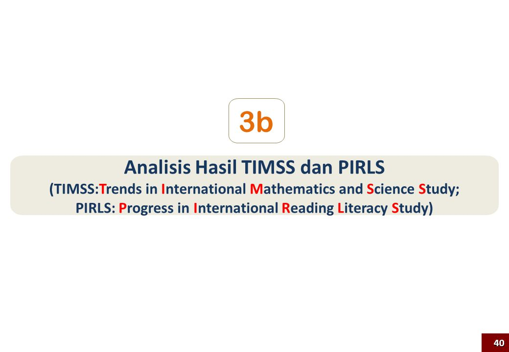 3b Analisis Hasil TIMSS dan PIRLS