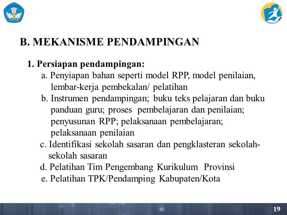 B. MEKANISME PENDAMPINGAN