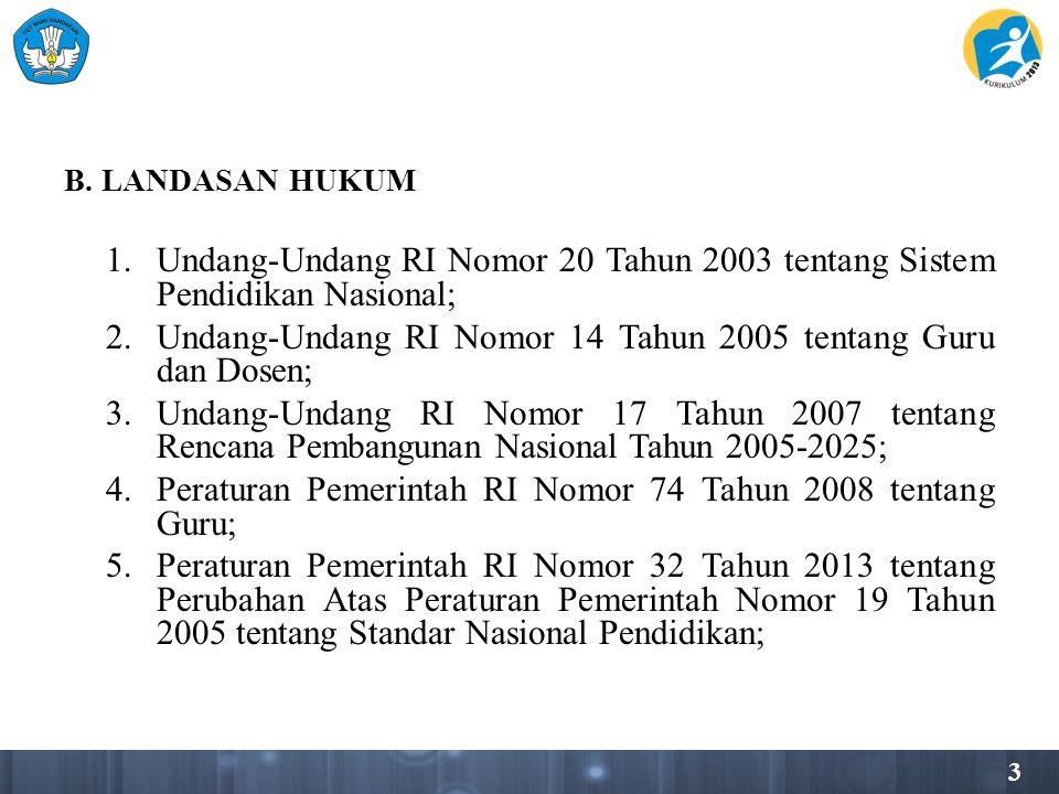 Undang-Undang RI Nomor 14 Tahun 2005 tentang Guru dan Dosen;